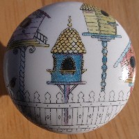 Cabinet knobs birdhouse images