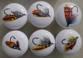 Cabinet knobs Fishing Flies